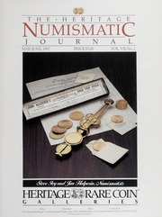 The Heritage Numismatic Journal: May/June 1987