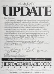 The Heritage Numismatic Journal Update: October 1986