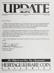 The Heritage Numismatic Journal Update: October 1984