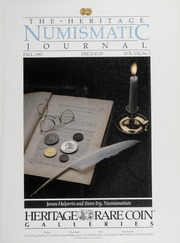 The Heritage Numismatic Journal: Fall 1987