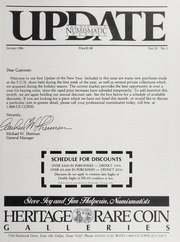 The Heritage Numismatic Journal Update: January 1984