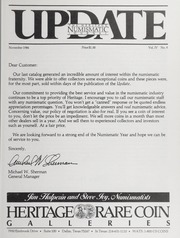 The Heritage Numismatic Journal Update: November 1984