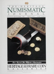 The Heritage Numismatic Journal: August/September 1986
