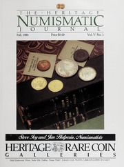 The Heritage Numismatic Journal: Fall 1984