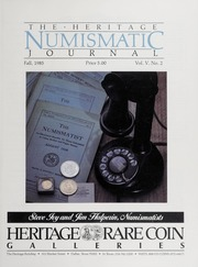 The Heritage Numismatic Journal: Fall 1985