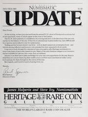 The Heritage Numismatic Journal Update: January/February 1989