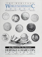 The Heritage World Numismatic Journal: Second Quarter 1987