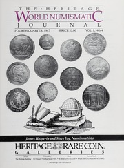 The Heritage World Numismatic Journal: Fourth Quarter 1987