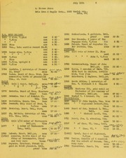 Herman Jonas Invoices from B.G. Johnson, July 18, 1946, to July 19, 1946