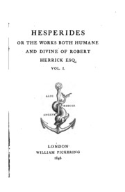 an analysis of robert herricks hesperides Studies at intersection of literature and economics top hat robert herricks hesperides and the epigram book tradition the mucky duck mustard cookbook io.