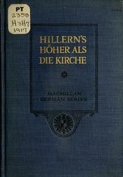 Höher als die kirche -c von Wilhelmine von Hillern