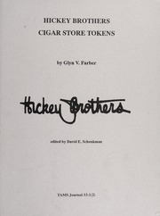 Hickey Brothers Cigar Store Tokens
