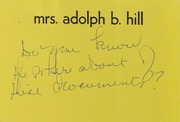 Ruth Hill Correspondence, 1969-1991