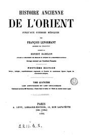 Histoire ancienne de l-Orient Texto impreso