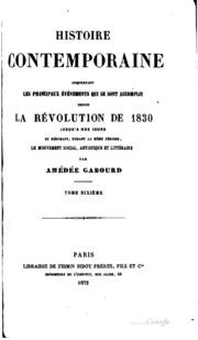 Histoire contemporaine comprenant les principaux événements qui se sont ...