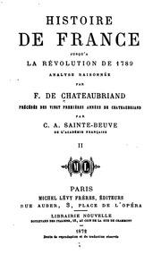 Histoire de France jusqu-à la révolution de 1789