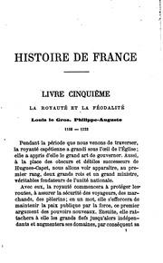 Histoire de France depuis les premiers temps jusqu-à nos jours: d-après les ...