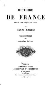 Vol 8: Histoire de France depuis 1789 jusqu-à nos jours