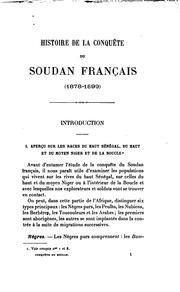 Histoire de la conquête du Soudan français (1878-1899)