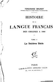 histoire de la langue francaise brunot pdf