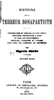 Histoire de la terreur bonapartiste; préliminaires et présages du coup d-état