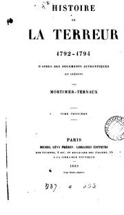 Histoire de la Terreur, 1792-1794