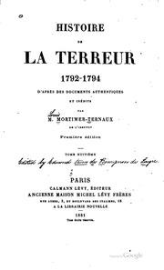 Vol 2: Histoire de la terreur, 1792-1794, d-après documents authentiques et inédits