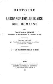 Histoire de l-organisation judiciaire des Romains