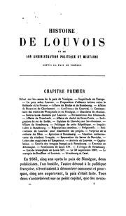 Histoire de Louvois et de son administration politique et militaire. 4 tom. vols. 3 and 4 are of ...