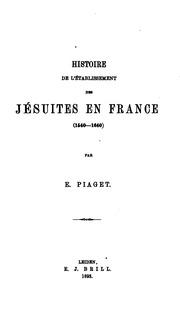 Histoire de l-établissement des Jésuites en France (1540-1640)
