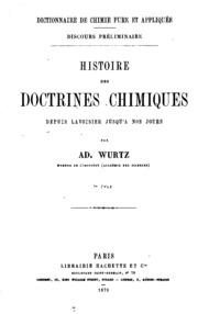 Histoire des doctrines chimiques depuis Lavoisier jusqu- à nos jours ...