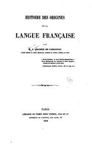 Histoire des origines de la langue française