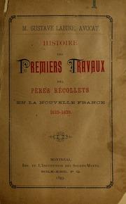 Histoire des premiers travaux des peres recollets en la nouvelle France, 1615-1629
