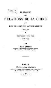 Histoire des relations de la Chine avec les puissances occidentales ..
