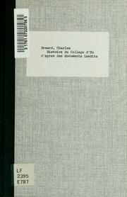 Histoire du Collège d-Eu d-après des documents inédits