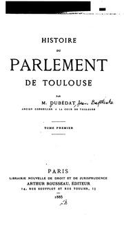 Histoire du Parlement de Toulouse