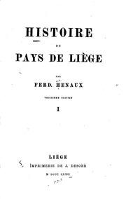Histoire du pays de Liège