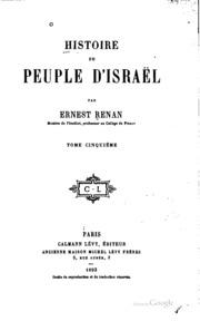 Histoire du peuple d-Israël