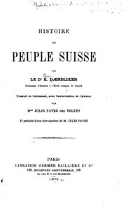 Histoire du peuple suisse
