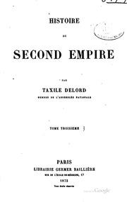 Histoire du second empire (1848-69): (1848-69)