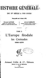 Histoiree générale du IVe siècle à nos jours