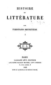 Histoire et Litterature I