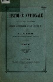 Vol 4: Histoire nationale depuis les origines jusqu- a l-av enement du roi Léopold II