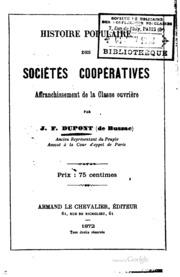 Histoire populaire des sociétés coopératives: Affranchissement de la classe ...