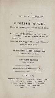 An Historical Account of English Money