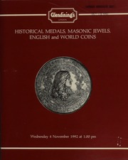Historical medals, Masonic jewels and medals by Karl Goetz, [including] a good collection of the patriotic and satirical series made during World War I and the years of political instability that followed,  ... [11/04/1992]