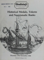 Historical medals, tokens, [and] numismatic books from the library of P.J. Seaby; a collection of 17th century halfpenny and farthing tokens; Masonic medals and jewels;  ... [11/17/1988]