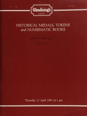 Historical medals, including a group of portraits relating to British exploration; a City of London series; medals relating to the Art of Union of London; [as well as] tokens, and a library of numismatic books, formed by Peter Thornton-Pett; [etc.] ... [04/11/1991]