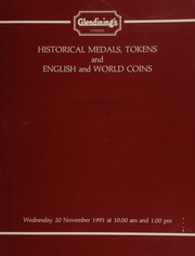Historical medals, tokens, and English and world coins, [including] Coronation medals, miscellaneous Masonic items, a group of Irish medals, a good group of 19th century tokens; a collection of silver threepences;  ... [11/20/1991]