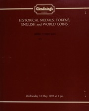 Historical medals, tokens, and English and world coins, [including] English medals from the \Jubilee\ collection; 17th century tokens, [and] a collection of 1,190 19th century lead hop tokens,  ... [05/13/1992]